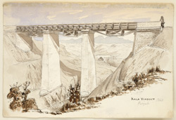 Kala Viaduct on the Peshawar Road (N.W.F.P.). 1860